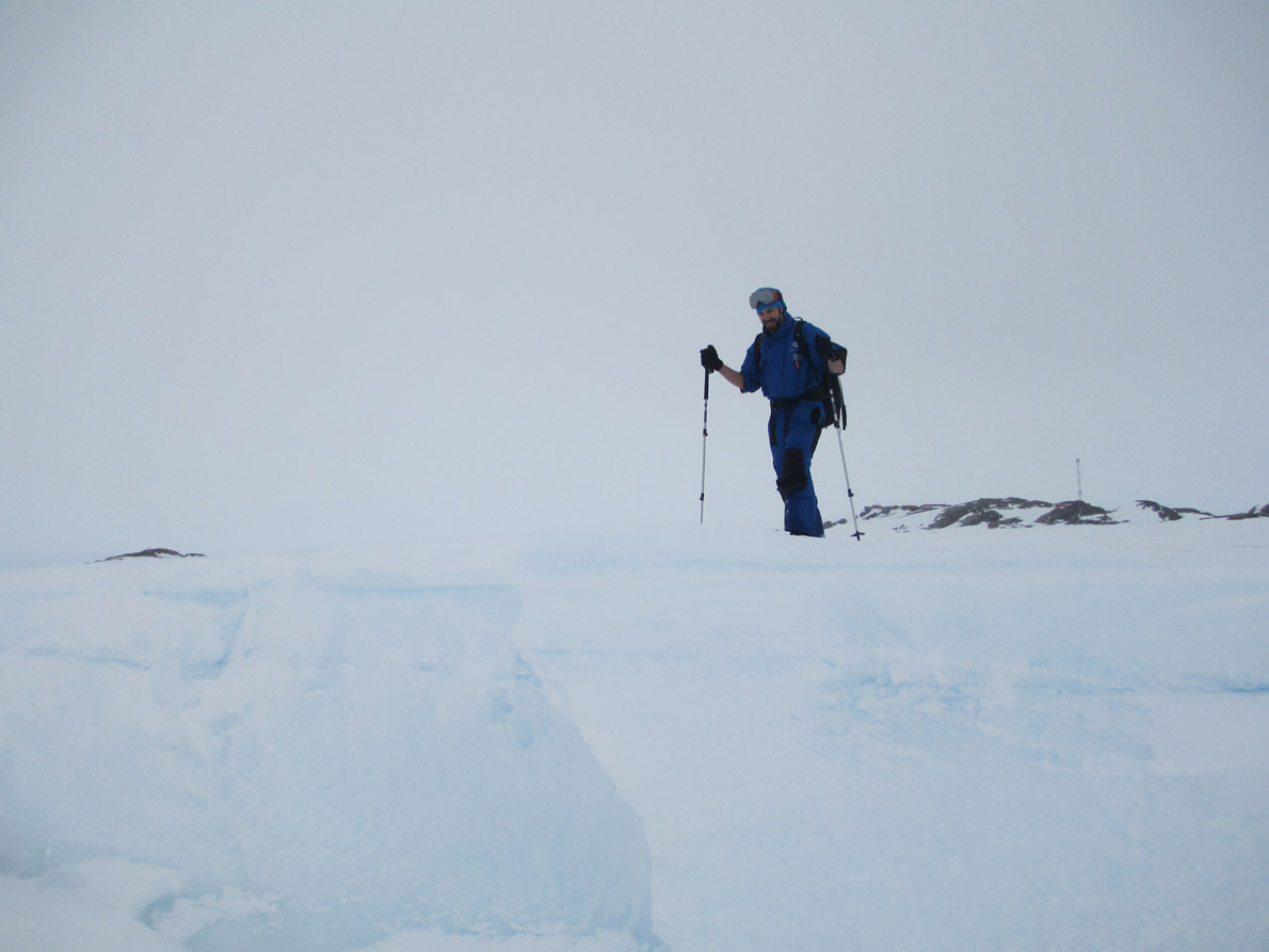 Walking on the ice shelf