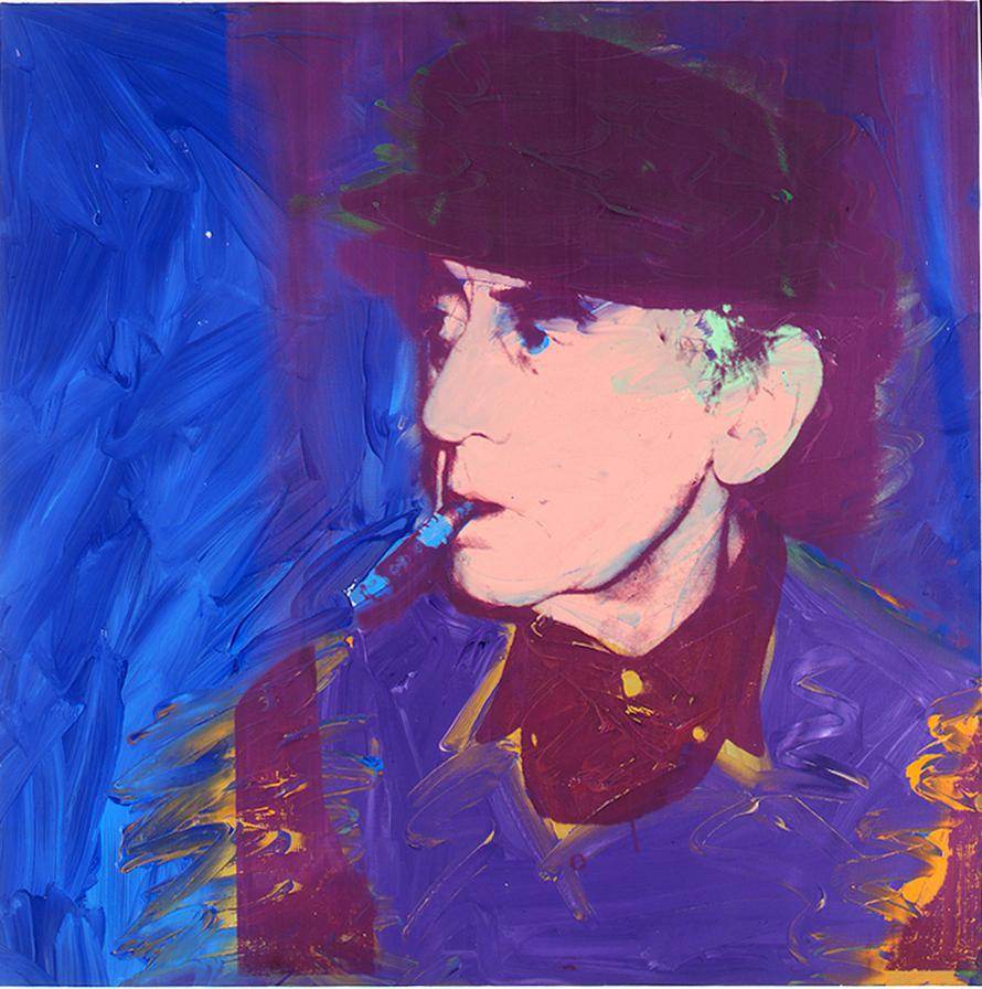 Andy Warhol, Man Ray, 1974, silkscreen, enamel, and acrylic on canvas, 40 x 40 inches, 101.6 x 101.6 cm. © 2014 The Andy Warhol Foundation for the Visual Arts, Inc. / Artists Rights Society (ARS), New York