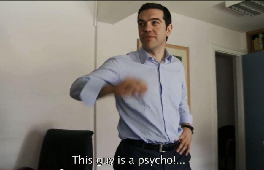 Snapshot από το ντοκιμαντέρ: Ο Αλέξης Τσίπρας σχολιάζει σοκαρισμένος το περιστατικό του ξυλοδαρμού της Λιάνας Κανέλλη από τον Κασιδιάρη.