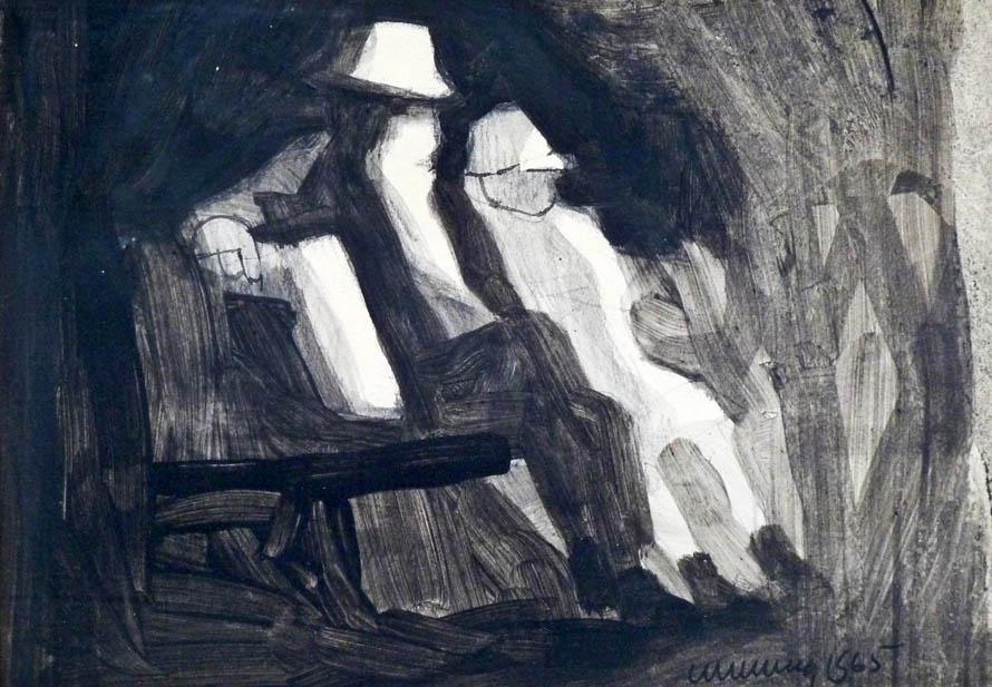 «Απομεσήμερο του Πάσχα σε παγκάκι / μόνον εσύ κι εγώ καθόμαστε, μητέρα. / Είμαστε γέροι πια κι οι δυο / κι εγώ αφού γράφω ποιήματα / πιο γέρος.» (William Cumming, «Old Couple on Bench», 1965)