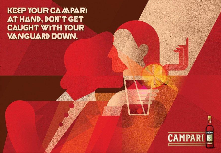 «Κρατούσα πάντα μια ξεχωριστή θέση για το Campari. Το μεγαλόπρεπο πορφυρό του ένδυμα με γοήτευε. Ούτε το μπουκάλι ούτε η ετικέτα του έχουν αλλάξει από το 1860».