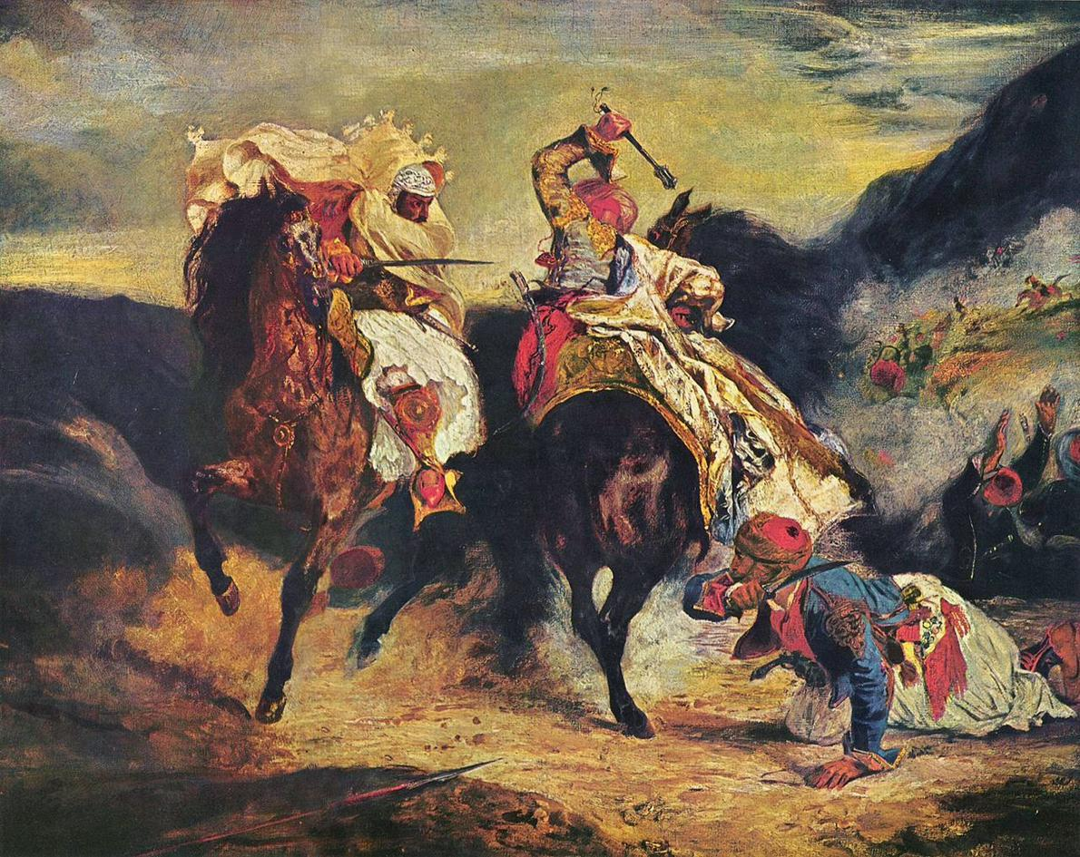 combat-of-the-giaour-and-the-pasha-painted-by-eugc3a8ne-delacroix-18272