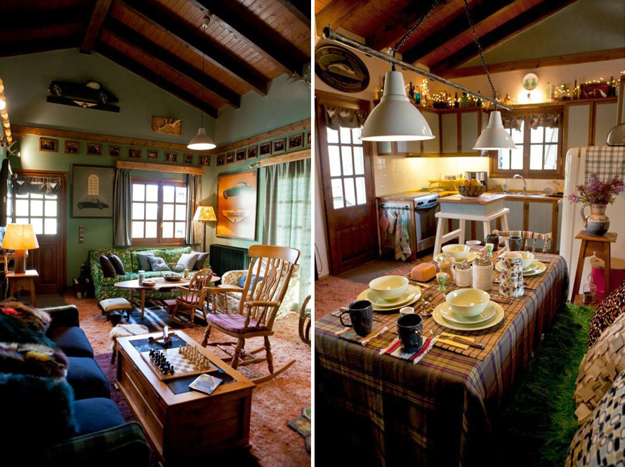 country houseand kitchen