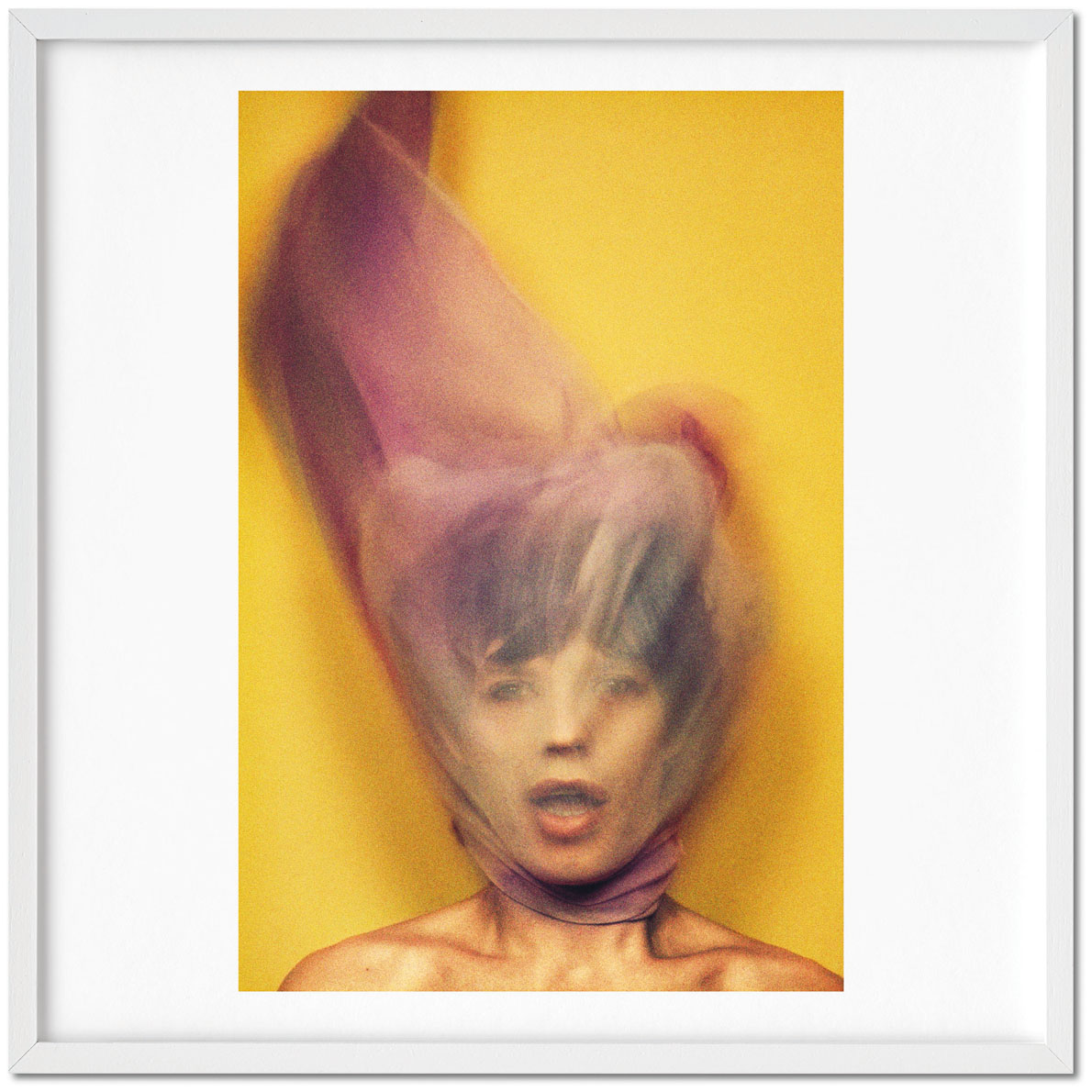 Mick Jagger (1973), signed by photographer David Bailey