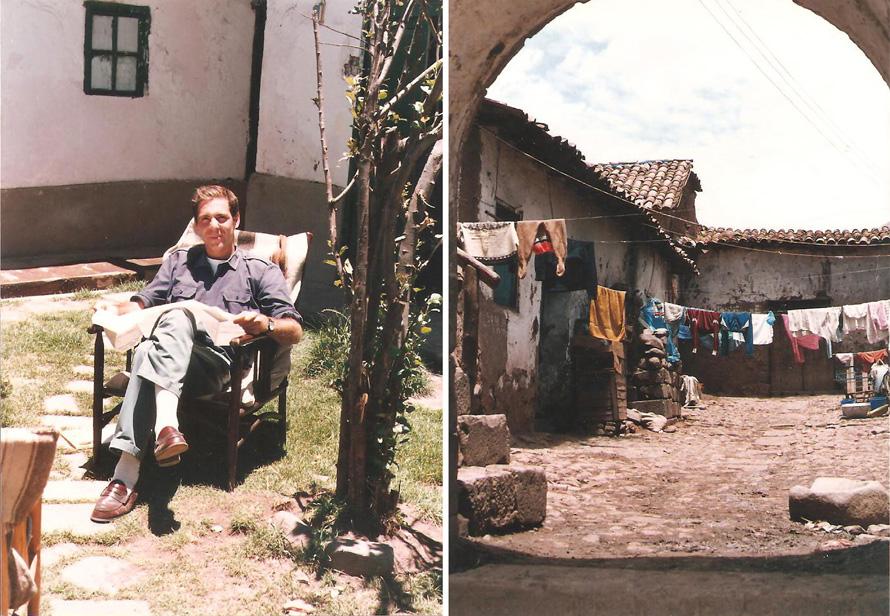 Αριστερά, Cusco 1988: στο σπίτι ενός φίλου. Δεξιά, αυλή κοντά στο σπίτι μου. Φωτο: Κωνσταντίνος Γκόφας