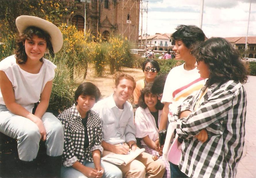Cusco 1988: στην Plaza de Armas. Φωτο: Κωνσταντίνος Γκόφας