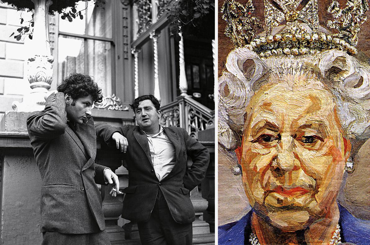 Lucien Freud with Behan in Dublin