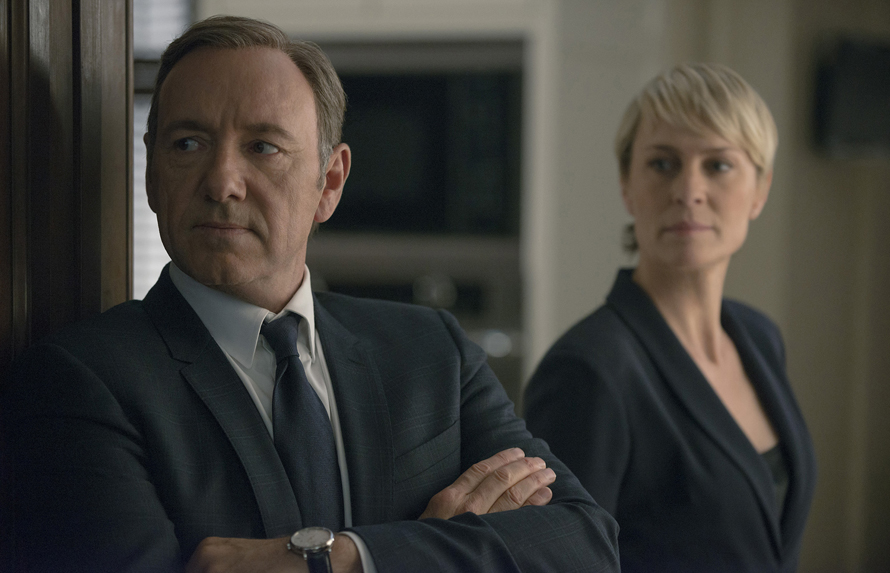 "58a6ab7b2c4 Kevin Spacey and Robin Wright in season 2 of Netflix's ""House of Cards.""  Photo credit: Nathaniel Bell for Netflix."