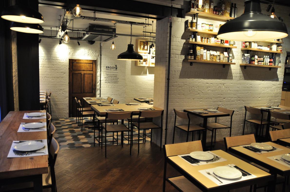 O χώρος του εστιατορίου