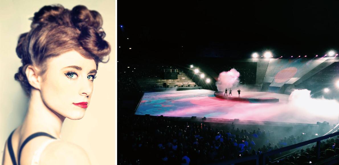 Η 25χρονη Kiesza ξεσήκωσε το στάδιο, λίγο πριν βγει στη σκηνή το μπαλέτο του Opera Pop on Ice.