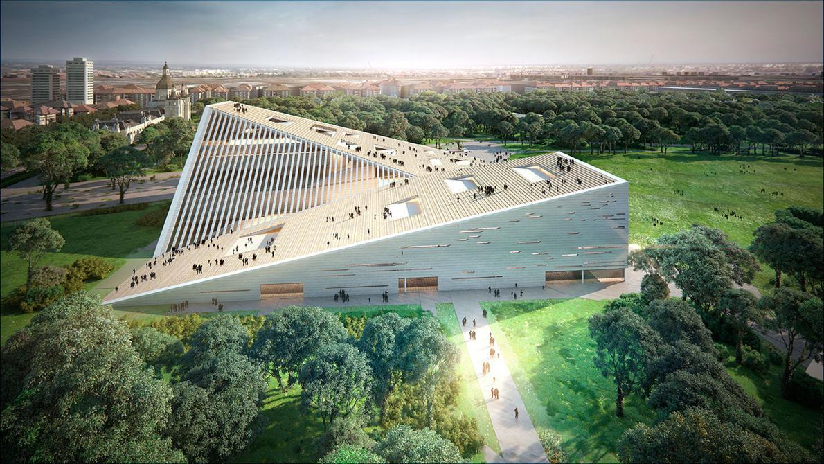 """New National Gallery/Ludwig Museum"", αρχιτέκτονες: SANAA και Snøhetta"