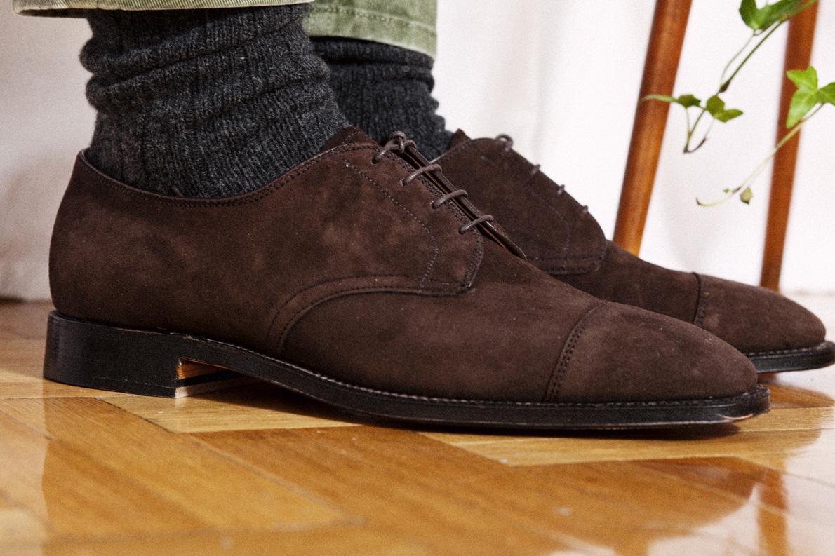 Τζίν παντελόνι Reign (shop and trade), Παπούτσια χειροποίητα ALDEN  Mah Jong, καλτσες Calzedonia