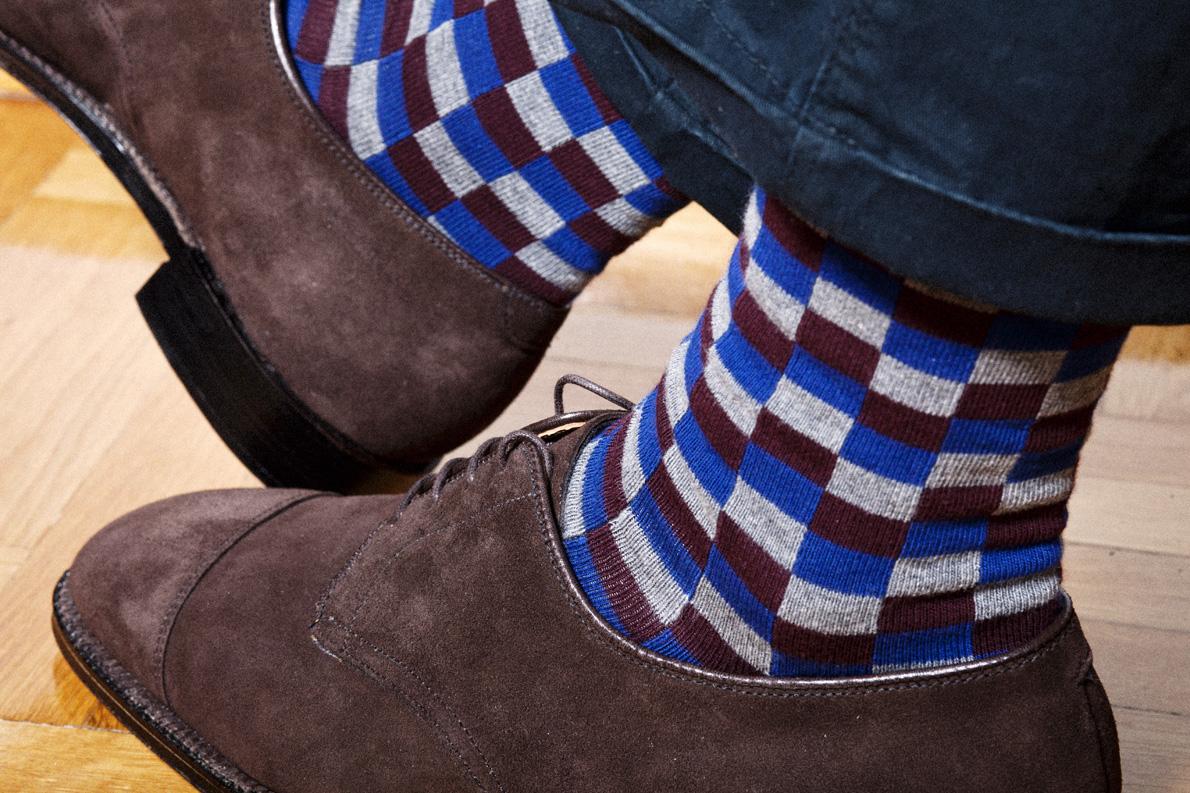 Παντελόνι  Basic (Fashion Lab ), Παπούτσια χειροποίητα ALDEN  Mah Jong, καλτσες Calzedonia