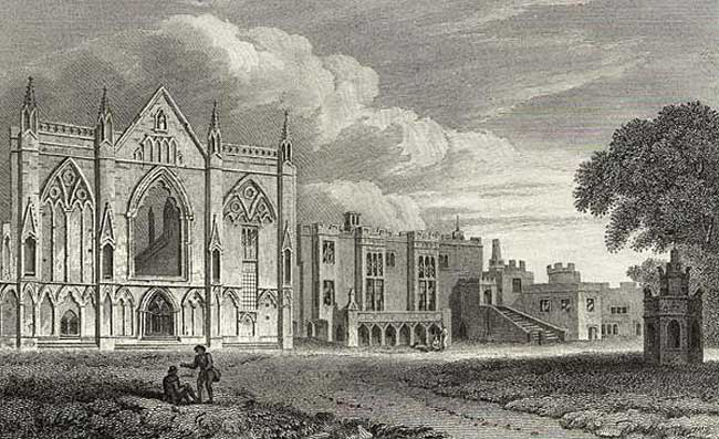 The west front of Newstead Abbey, 1813.