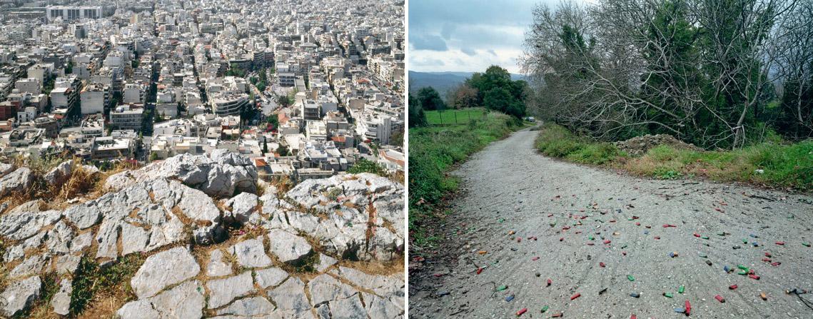 """Νίκος Μάρκου """"15/04/2005"""" και """"19/2/2007"""", Mε την ευγενική παραχώρηση της Γκαλερί ΑΔ, Αθήνα και του καλλιτέχνη."""