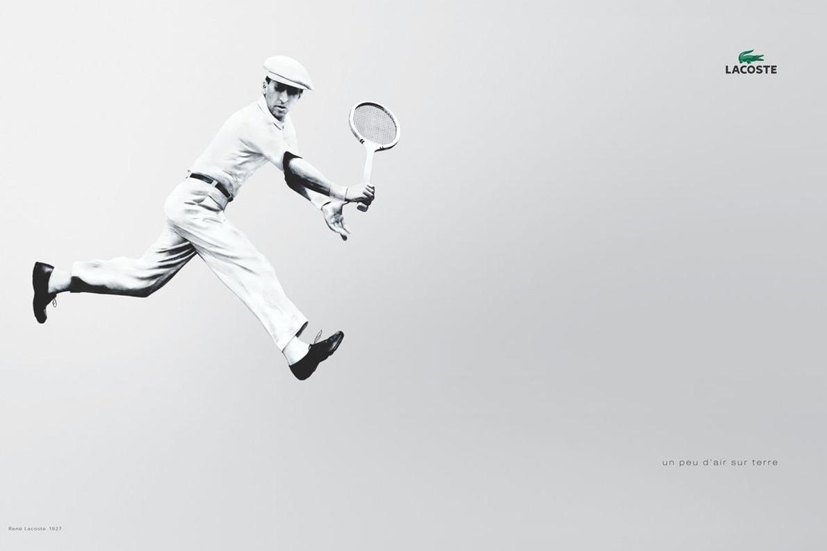 Ο Rene Lacoste σε διαφήμιση του L12.12.