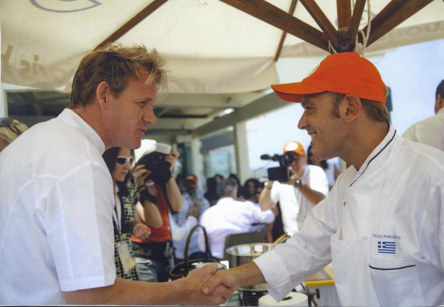 Στο «Κέρασμα», στην Κρήτη, με τον Gordon Ramsay (2006)