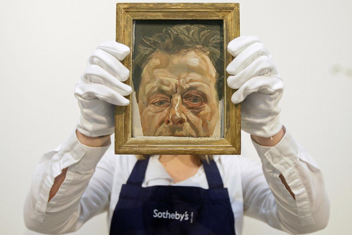 """""""Self Portrait With Black Eye"""", φιλοτεχνήθηκε αμέσως μετά απο έναν καβγά του Φρόιντ με Άγγλο ταξιτζή."""
