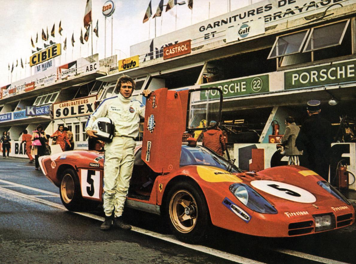 """Στο φίλμ """" Le Mans"""" οδηγούσε την αδρεναλίνη του στα άκρα., 1971."""
