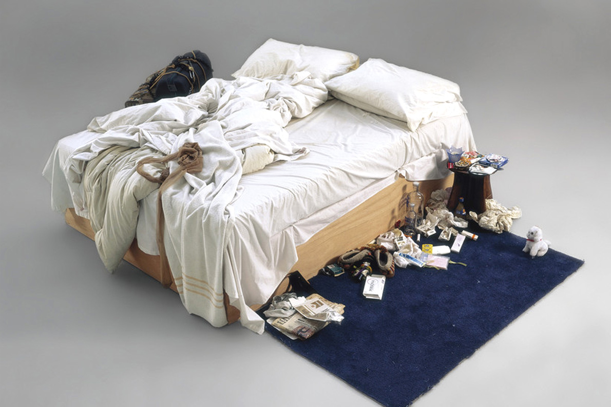 """Tracy Emin Installation """"My Bed"""""""