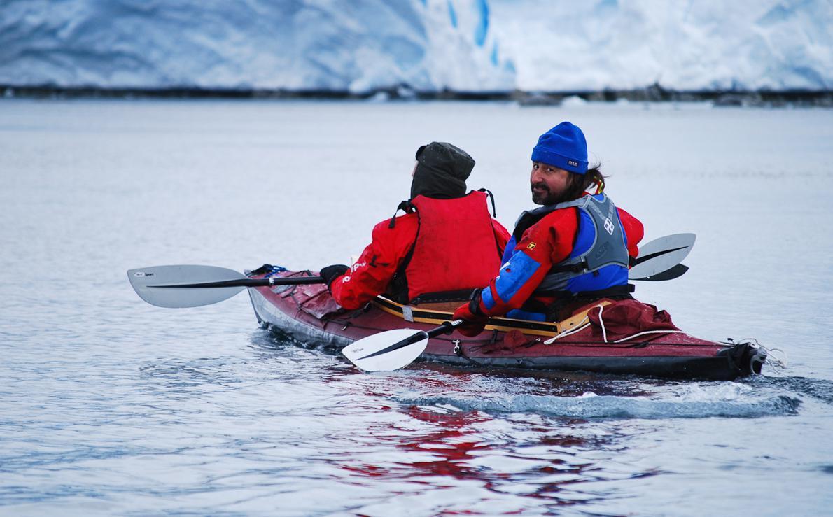Το kayaking ήταν από τις δραστηριότητες του πληρώματος