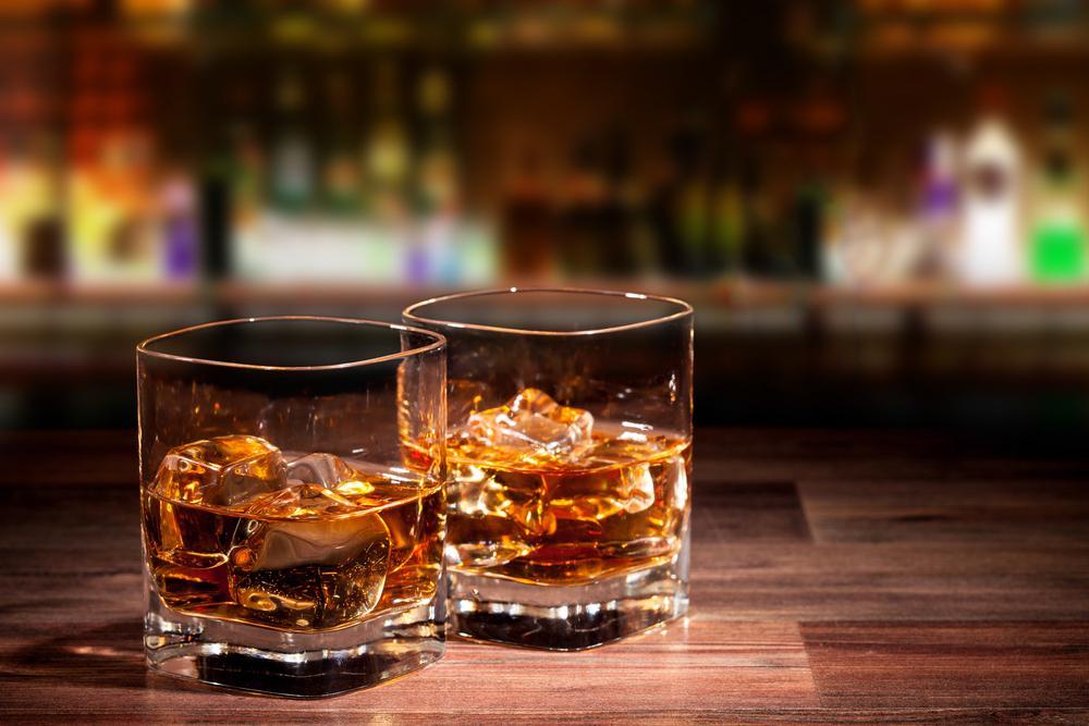 whisky on rocks